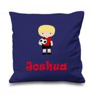 Football Player Any Name Printed Cushion