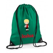 Football Player Any Name Drawstring Bag