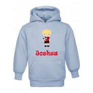 Football Player Any Name Childrens Hoodie