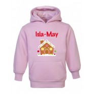 Christmas Gingerbread House Any Name Childrens Hoodie