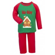 Gingerbread House Any Name Childrens Pyjamas