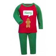Christmas Gingerbread Man Any Name Childrens Pyjamas