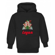 Christmas Gingerbread House Any Name Childrens Embroidered Hoodie