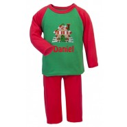 Christmas Gingerbread House Any Name Embroidered Pyjamas