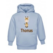 Giraffe Any Name Childrens Hoodie