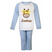 Giraffe Any Name Embroidered Pyjamas