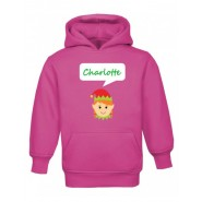 Christmas Girl Elf Any Name Childrens Hoodie