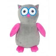 Hooty Loo The Owl (Pink/Grey)