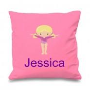Gymnast Any Name Printed Cushion
