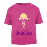 Gymnast Any Name Childrens Printed T-Shirt