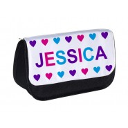 Girl Hearts Any Name Pencil Case
