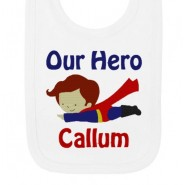 Our Super Hero Any Name Baby Bib