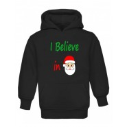 Christmas I Believe in Santa Childrens Hoodie