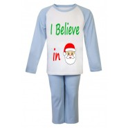 Christmas I Believe in Santa Any Name Childrens Pyjamas