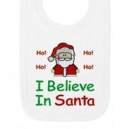 I Believe in Santa Claus Christmas Baby Bib