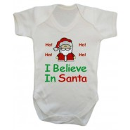 I Believe In Santa Claus Baby Vest