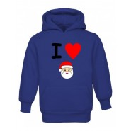 Christmas I Heart Santa Childrens Hoodie