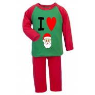 I Heart Santa Any Name Childrens Pyjamas
