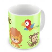 Jungle Animals + Name Mug