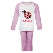 Ladybird Any Name Embroidered Pyjamas