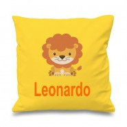 Lion Any Name Printed Cushion
