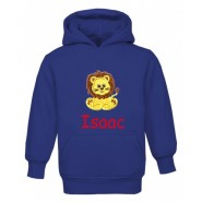 Lion Any Name Childrens Embroidered Hoodie