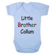 Little Brother Any Name Baby Vest