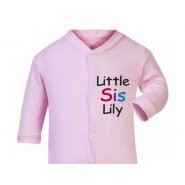 Little Sis Any Name Baby Sleepsuit