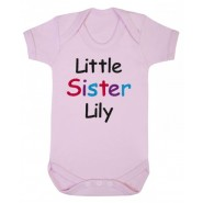 Little Sister Any Name Baby Vest
