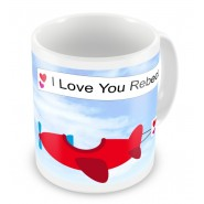 Flying Love Planes Any Text Mug
