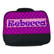 Choose Patterned Background Any Name Lunch Bag