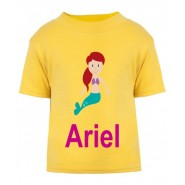 Mermaid Any Name Childrens Printed T-Shirt