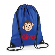 Monkey Any Name Drawstring Bag