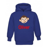 Monkey Any Name Childrens Hoodie