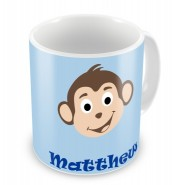 Monkey (Boy) + Name Mug