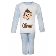 Monkey Any Name Childrens Pyjamas
