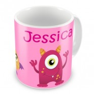 Monsters Girls Any Name Mug