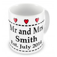 Mr and Mrs Wedding Mug