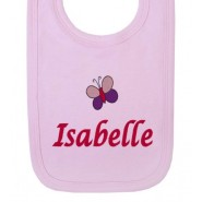 Any Name Butterfly Baby Bib