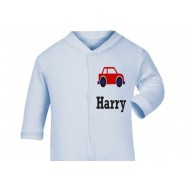 Any Name Car Baby Sleepsuit