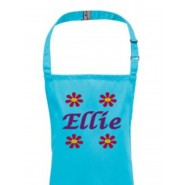 Any Name Flowers Child's Apron