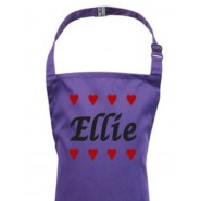 Any Name Hearts Child's Apron