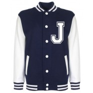 Personalised Junior Stanford Navy Blue Varsity Jacket