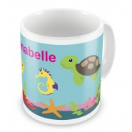 Under The Sea + Name Mug