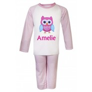 Owl Any Name Embroidered Pyjamas