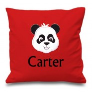 Panda Any Name Embroidered Cushion