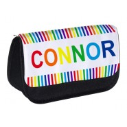 Rainbow Stripes Any Name Pencil Case