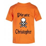 Pirate / Skull Any Name Childrens Printed T-Shirt