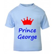 Prince + Crown Any Name Childrens Printed T-Shirt