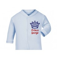 Prince Any Name Crown Baby Sleepsuit